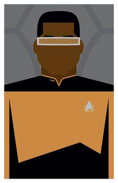 Star Trek: The Next Generation - Lieutenant Commander Geordi La Forge - Poster or 11 x Star Trek Enterprise, Star Trek Voyager, Star Trek Wallpaper, Star Trek Universe, Marvel Universe, Deep Space 9, Lt Commander, Firefly Serenity, Stargate Atlantis