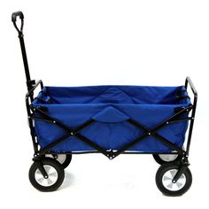 Fishing Carts and Wagons 179993: Mac Sports Collapsible Folding Outdoor Utility Wagon Blue Durable Portable Easy -> BUY IT NOW ONLY: $89 on eBay!