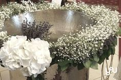 Ghirlanda pentru botez cu gypsophila si lavanda :) ! Foto: YaU Concept Church Flower Arrangements, Baby Christening, Gypsophila, Baby Party, Altar, Wedding Flowers, Concept, Candles, Memorial Services