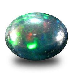 Black Opals 181110: 1.45 Ct Aaa Outstanding Oval Cabochon Shape (9 X 7 Mm) Black Opal Loose Gemstone -> BUY IT NOW ONLY: $34.99 on eBay!