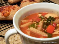20-Minute Minestrone (with optional precooked chicken)