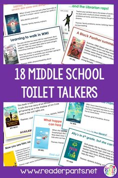 Every student spends some time in the bathroom every day. Take advantage of this captive audience with Toilet Talkers! These are book talk signs for the backs of bathroom stalls. Social Studies Notebook, Teaching Social Studies, Teaching History, History Education, Library Lesson Plans, Library Skills, Reading Incentives, School Sets, School Librarian