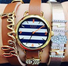 Limited edition navy striped TimeKey...swoon! #keep #keepcollective #armparty #blessed #wahm browse + create online at www.keep-collective.com/with/kellybryan