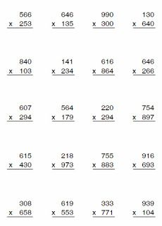 4th Grade Multiplication Worksheets, 4th Grade Math Worksheets, Printable Math Worksheets, 5th Grade Math, Primary Maths Games, Math Drills, Math Sheets, Teaching Math, School