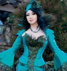M7218, Yaya Han Peacock Jacket, Corset and Skirt