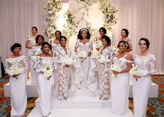 Bridal Gown Designer Ese Azenabor's Luxurious Dallas Wedding Ivory Bridesmaid Dresses, Wedding Bridesmaids, Bridal Dresses, Wedding Gowns, Reception Dresses, Wedding Bells, Prom Dresses, New Years Eve Weddings, Wedding Of The Year