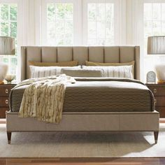 Lexington Home Brands Tower Place Barrington Upholstered Platform Bed Bedroom Furniture Sets, Large Furniture, Quality Furniture, Cheap Furniture, Furniture Stores, Bedroom Ideas, Furniture Buyers, Furniture Deals, Furniture Vintage