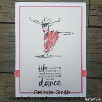 Beautiful You - Quick cards for all occasions, Belinda Smith - www.belindasinkpad.blogspot.com, Stampin' Up!, Flirty Flamingo