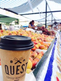 Quest Coffee Roasters cup visiting the markets in Brazil.