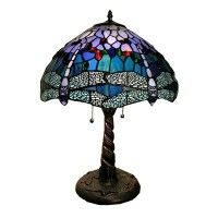 Warehouse of Tiffany WHT008 2 Light TiffanyStyle Dragonfly Table Lamp, Bronze