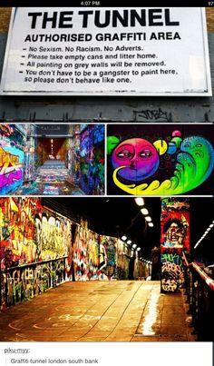 Graffiti tunnel London south park