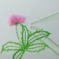 art of silk ribbon embroidery Beginning Embroidery, Basic Embroidery Stitches, Hand Embroidery Videos, Hand Embroidery Tutorial, Embroidery Flowers Pattern, Creative Embroidery, Sewing Stitches, Silk Ribbon Embroidery, Hand Embroidery Designs