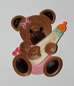 quilled teddy bear