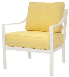 Capri Outdoor Lounge Chair with Cushions-Available in a Variety of Finishes. Product in photo is from www.wellappointedhouse.com