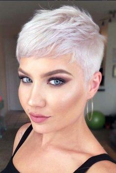 Formal Hairstyles For Short Hair, Short Pixie Haircuts, Pixie Hairstyles, Short Hair Cuts, Straight Hairstyles, Short Hair Styles, Asian Hairstyles, Short Bangs, Super Short Hairstyles