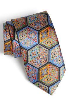 Ermenegildo Zegna 'Quindici' Print Silk Tie | Nordstrom