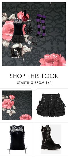 """Gothic Beauty"" by sophielovesmc ❤ liked on Polyvore featuring Astek and Chinese Laundry"