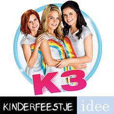 Complete themakist K3. Alles voor een vrolijk K3 feestje. Compleet met draaiboek, verkleedkleren, spelletjes en versiering. Kinderfeestje-Idee