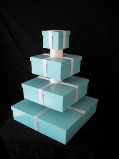 Tiffany OFF! Tiffany Blue Box Custom Cupcake Tower to put your Breakfast at Tiffanys cupcakes on. Tiffany Blue Party, Tiffany Theme, Azul Tiffany, Tiffany Wedding, Tiffany Box, Shower Box, Baby Shower, Shower Ideas, Tiffany's Bridal