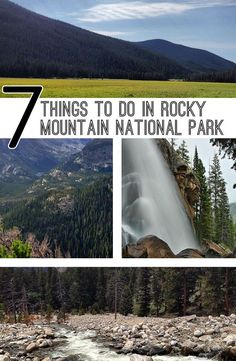 Majestic Places to See in Wyoming Perfect for Every Outdoor Enthusiast Seven Things to do in Rocky Mountain National Park including hiking trails and waterfall viewing. Be sure to add a visit to Rocky Mountain National Park to your Colorado travel plans. Denver Colorado, Colorado Springs, Estes Park Colorado, Road Trip To Colorado, Colorado Hiking, Denver Travel, Travel Usa, Snowshoe, Rv Camping
