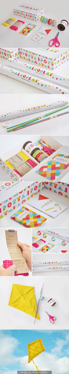 GDI great way to style typographic wrapping paper projects - Aeroplay Kites (Student Project)