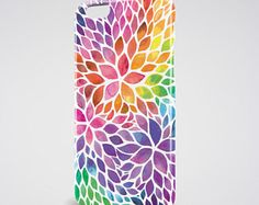 Floral iPhone 7 Case Watercolor Floral iPhone 7 Plus Case Rainbow iPhone 6 Case iPhone SE Case Flowers iPhone SE Case Samsung Galaxy S7 Case