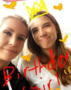 Tobin Heath & Allie Long Tobin Birthday 05.2016 Happy bday to one of the best people in the world❤️❤️