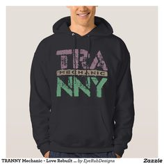 TRANNY Mechanic - Love Rebuilt Transmissions, Plum Hooded Sweatshirt for Automotive Enthusiasts, for Skilled Auto Mechanics and Technicians, for Transgender and Transsexual Rights Advocates and for Proud Social Justice Warriors of Gender Equality Movement - #automotive #lgbt #transmission #tranny #mechanic #ladyboy #carengine #shemale #autorepair #tgirls #carmechanic #transsexual #carrepair #transgender #genderidentity