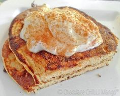 Clean Eating:  Paleo High Fiber Cinnamon Protein Pancakes! Follow Our Board for more Nutritious, High Protein Recipes! www.SportsNutritionMarket.com