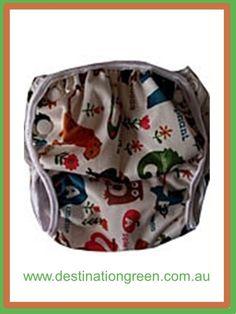 Destination Green Swim Nappy - ABC animals, $16.00