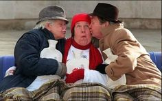 "Last of the Summer Wine (BBC)' ""Compo"", ""Nora"" and ""Clegg"" ( Bill Owen, Kathy Staff and Peter Sallis )"