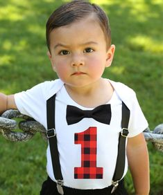 e2173a139 Baby Boy Lumberjack First Birthday Party Outfit Buffalo Plaid One – Noah's  Boytique Birthday Party Outfits