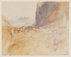 Joseph Mallord William Turner, 'Village in the Higher Alps' ?1843