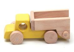 Handcrafted wooden truck natural organic wooden toys by woodenplay