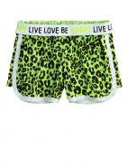 Animal Print Mesh Shorts