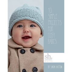 Sarah Hatton continues her much-admired 10 Simple Projects range with the knitting pattern book 10 Simple Projects for Cosy Babies. This book is ideal for a beginner for whom all the knitting projects for babies seem too hard, or an advanced knitter who doesn't want to think too much when knitting. All the patterns are adorable and easy, so grab the book, yarn and needles and start knitting!