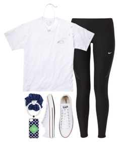 """asked to hoco!!!"" by tabooty ❤ liked on Polyvore featuring NIKE, Kendra Scott, Converse and Natasha Couture"