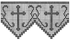 Crochet Edgings Filet Crochet Edging Patterns for Altar Cloths and Robes ~ Free Vintage Crochet Filet Crochet, Crochet Cross, Thread Crochet, Crochet Stitches, Diy Crochet, Needle Tatting Patterns, Crochet Edging Patterns, Crochet Lace Edging, Crochet Borders