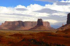Monument Valley Navajo Tribal Park on the border of Arizona and Utah.