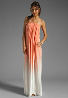 YOUNG, FABULOUS & BROKE Karissa Dress in Mango Ombre at Revolve Clothing - Free Shipping!