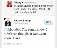 """It was...you know. Dark."" LOL. Love Patrick."