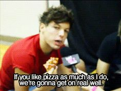 as he says with a mouthfull of pizza!(: