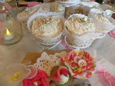 12 Doily Cupcake Wrappers  Rustic Shabby Chic by brightsoslight, $5.00