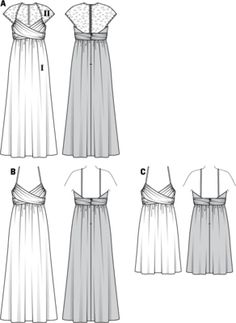 22 x 15 cm New Look NL6143 Schnittmuster Kleid Long Sleeve