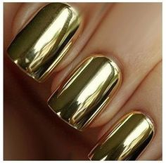 Boii Nail polish Gold Patches  Nail Art foil by BoysNailpolish, $2.49 |  These look pretty darn cool.