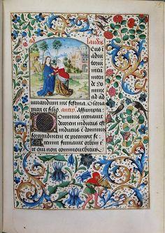 Stundenbuch der Maria von Burgund Wien cod. 1857 Maria Heimsuchung.jpg