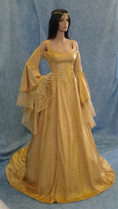 Renaissance medieval handfasting fantasy wedding dress