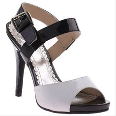 """MADELINE - Almond Blossom in White Patent 