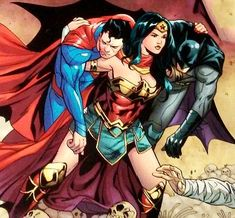 Wonder Woman, Batman, and Superman Superman, Batman, Comic Art, Comic Books, Dc Trinity, Dc Comics Art, Dc Heroes, Dc Universe, Marvel Dc