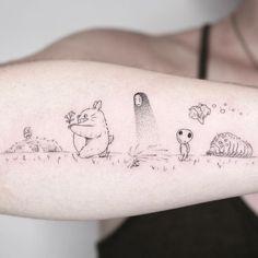 Anime Tattoos, Sexy Tattoos, Cute Tattoos, Body Art Tattoos, Small Tattoos, Sleeve Tattoos, Tatoos, Kawaii Tattoos, Manga Tattoo